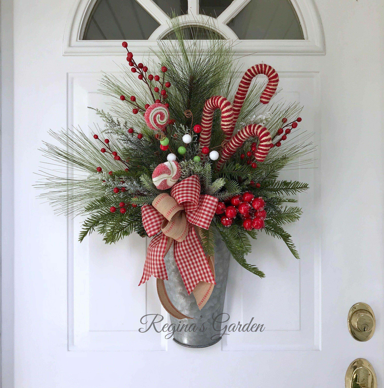 Christmas Wreath for Front Door-Farmhouse Christmas Wreath ...