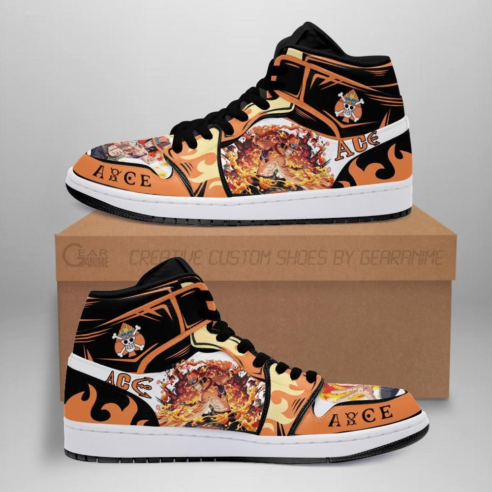 Portgas D. Ace Jordan Sneakers One Piece Anime Sho