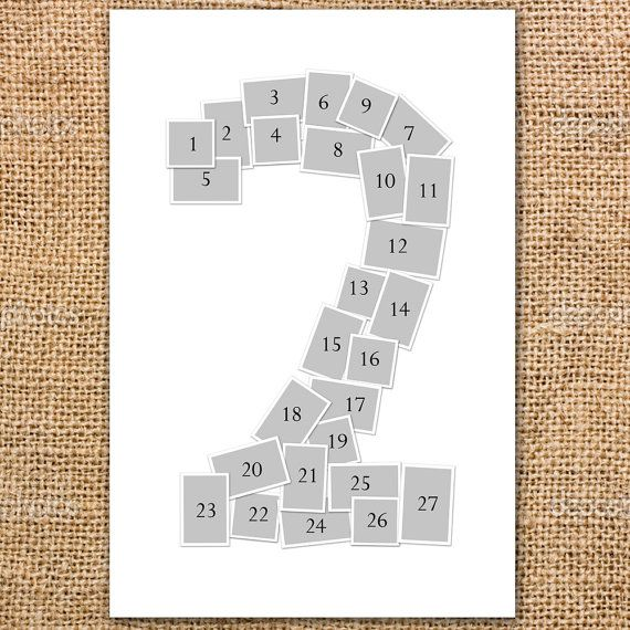 Single Number Photo Collage Poster Printable