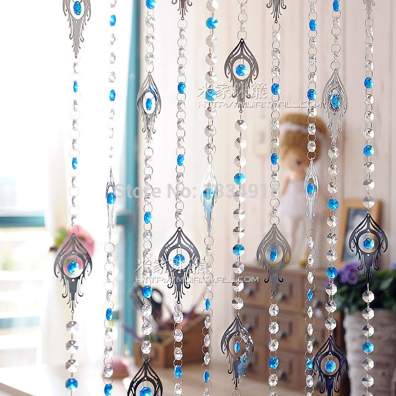 Free Shipping Finished Product 30m Ombre Stainless Steel Crystal Bead  Curtain Can Be Customized Crystal Curtain