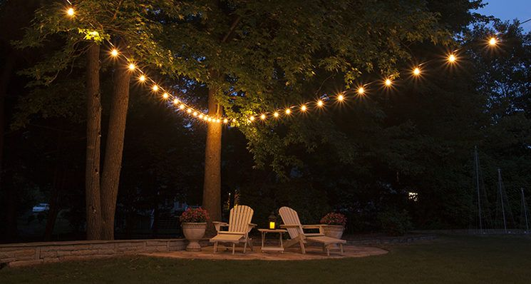 Patio String Lights Impressive Get Your String Lights In Shape With Popular Patio Light Hanging Decorating Design
