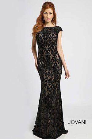 Black Cap Sleeve Prom Dress 98466 | Party Dresses!!! | Pinterest ...