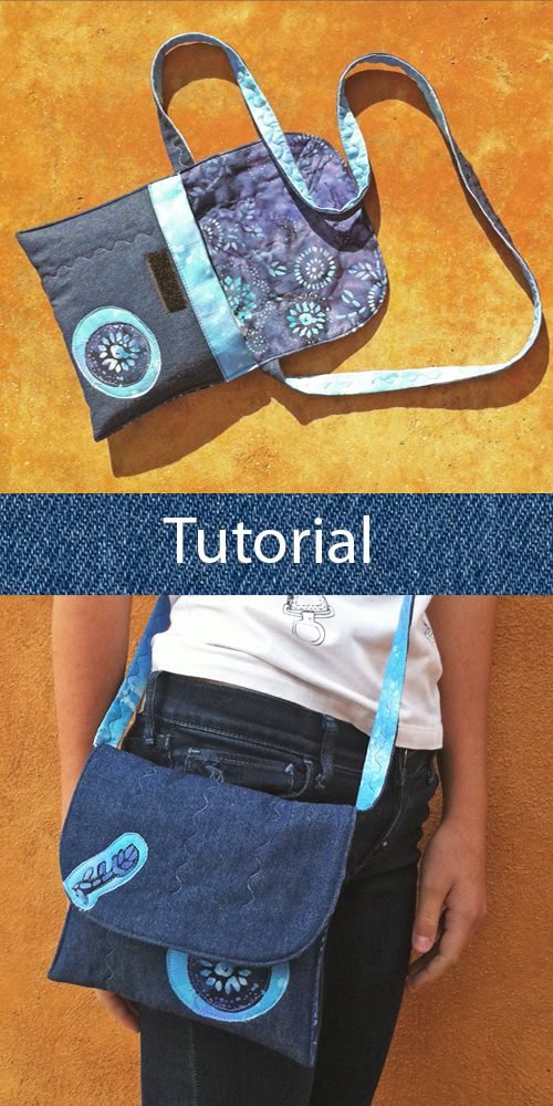 7fdd93e3f Tutorial bolso tejano: cómo hacer un bolso con vaqueros reciclados y tela  de batik. Jean bag tutorial: how to make a handbag with recycled jeans and  batik ...