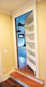 False door bookshelf (With images) Hidden rooms in houses