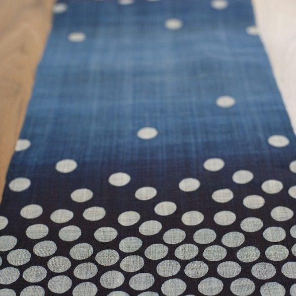 Hoshi Japanese Linen Table Runner