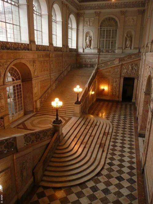 Staircase, Palace Real, Naples, Italy  photo via jen**.
