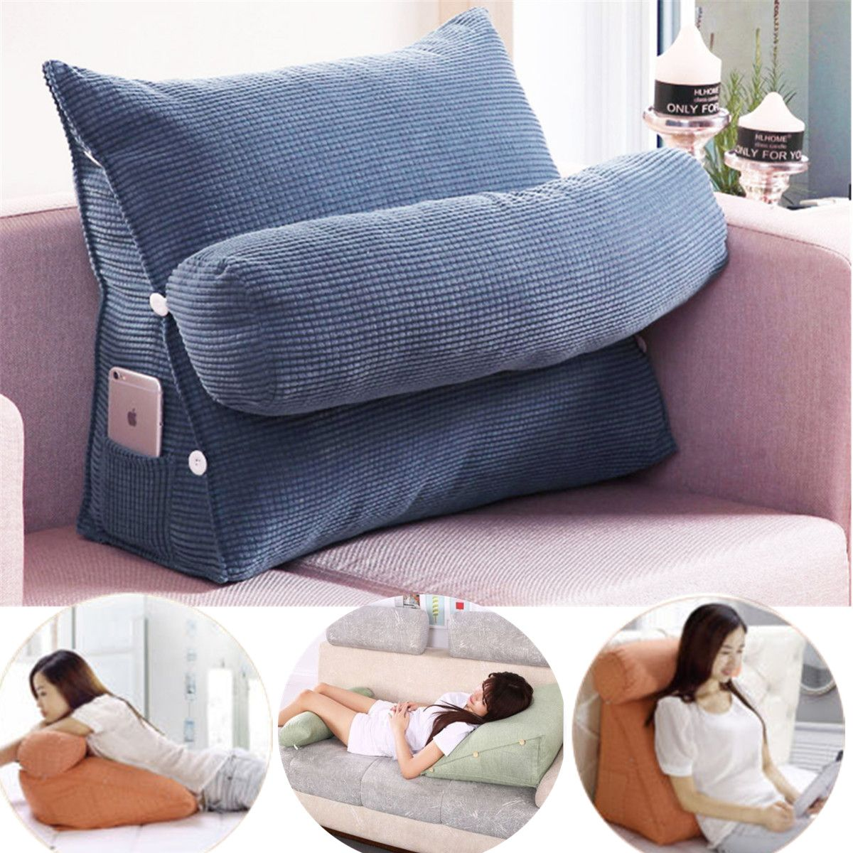 Adjustable Back Wedge Cushion Pillow Sofa Bed Office Chair Rest Waist Neck Support Best Gift Walmart Com In 2020 Cushions On Sofa Sofa Pillows Sofa Bed Office