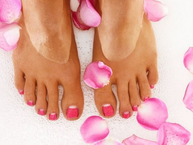 Pink Half Moon Pedicure Nail Art Ideas And Nail Color Trends In