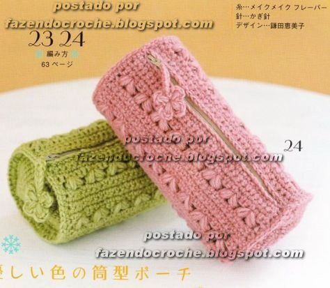 Crochet knitting bags Schemes