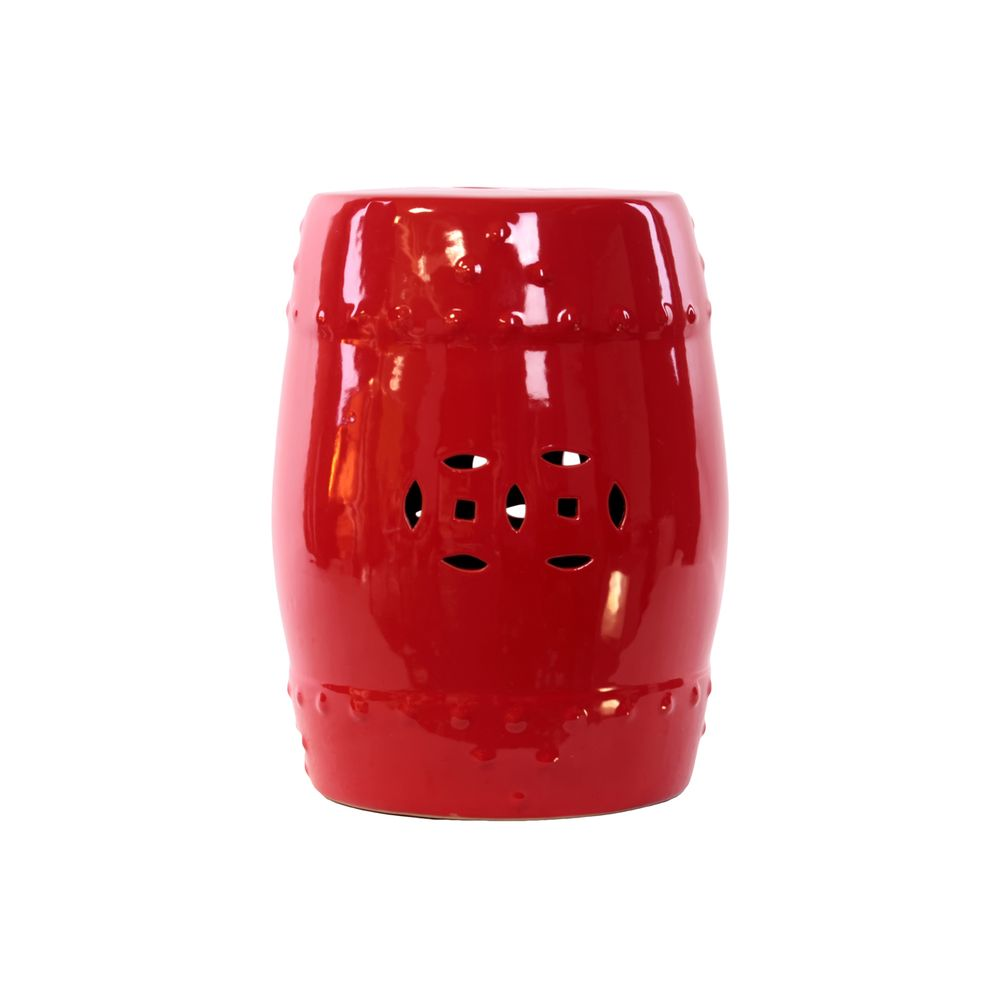 Red Ceramic Garden Stool | Overstock™ Shopping   Great Deals On Urban  Trends Collection Garden