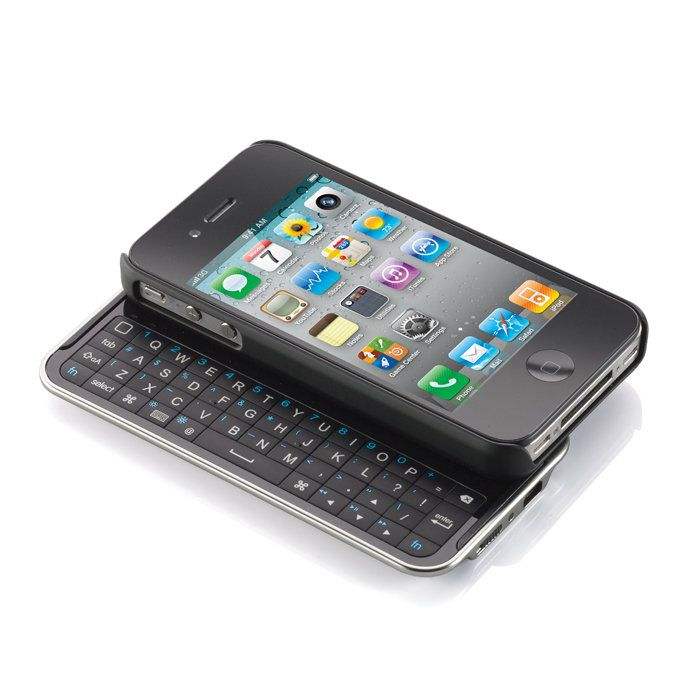 Bluetooth® Keyboard Case for iPhone® Device. Pretty Cool! Especially if your not a  hugh fan of the all touch screen.