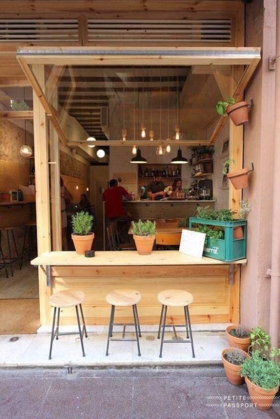 20 desain warung kopi sederhana pinggir jalan Warung
