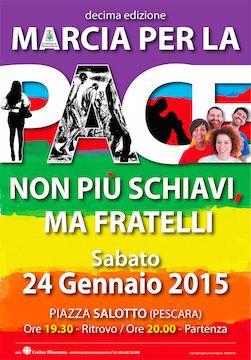 Pescara, Marcia per la pace 2015: il percorso - Attualità - Primo Piano