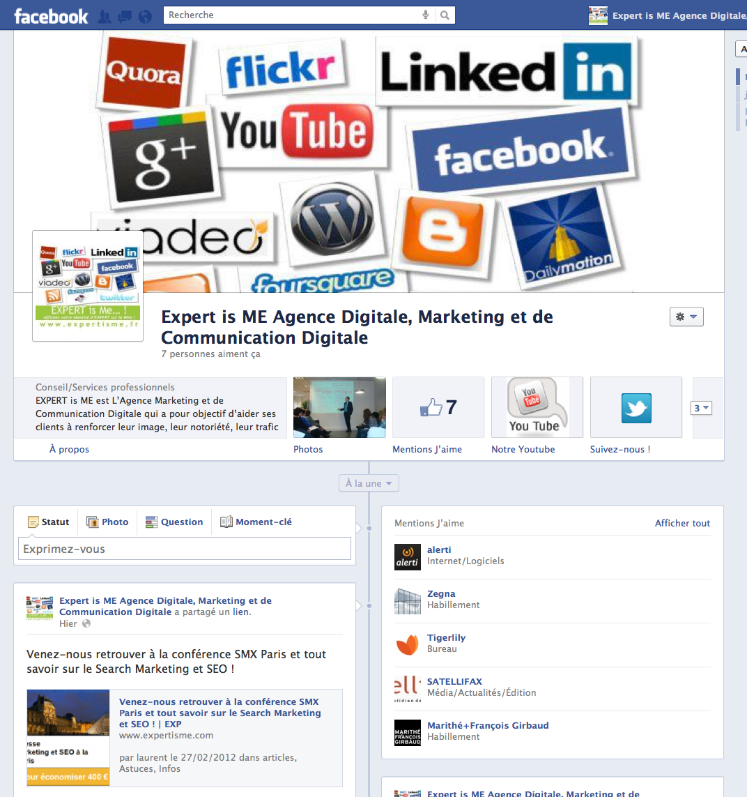 La Nouvelle Time Line Pour Les Pages Entreprises Sur Facebook Expliquee En Detail Expert Is Me Facebook Agence Marketing Entreprise