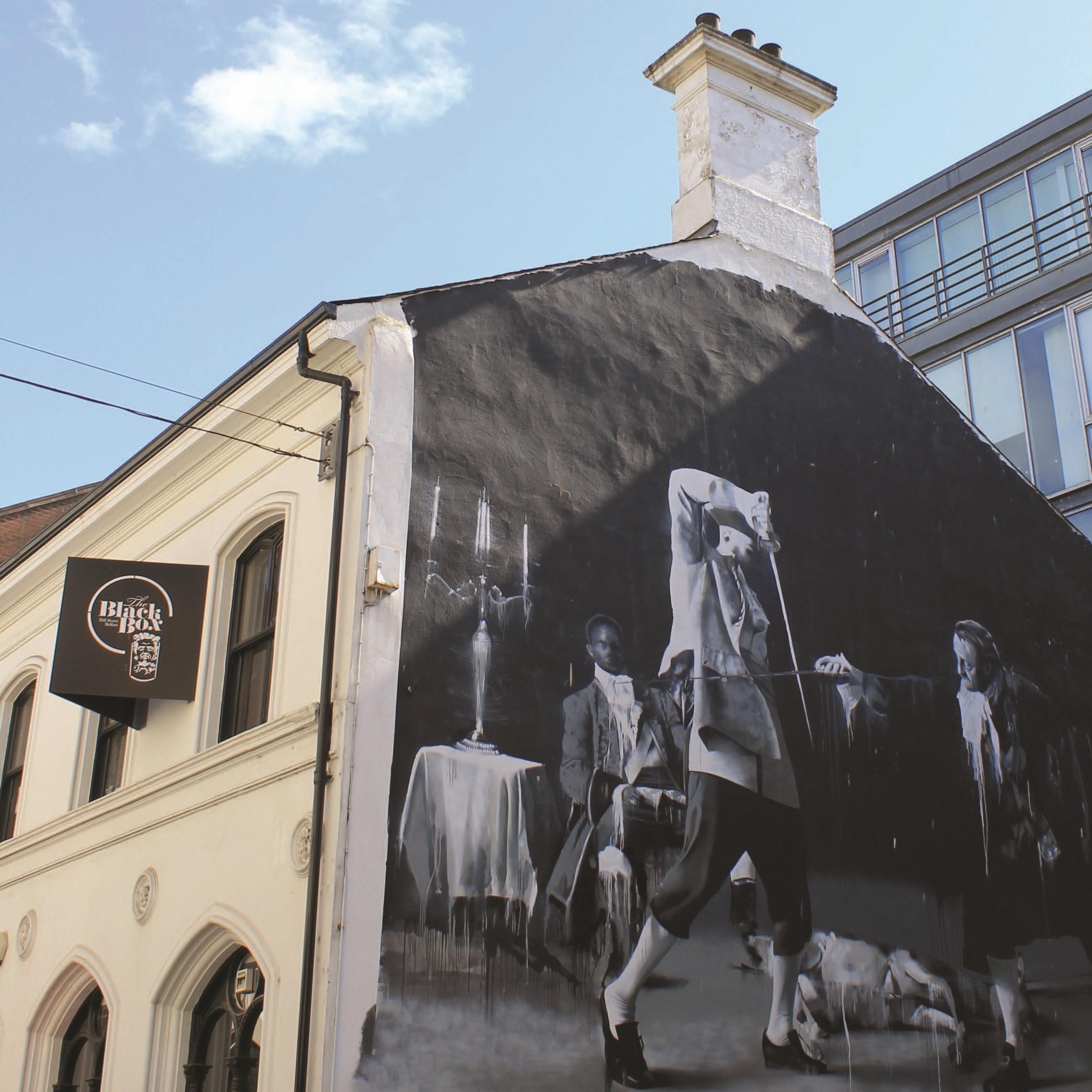 Murale a Belfast, Irlanda.