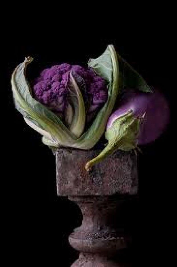 Lynn Karlin - Purple Cauliflower and Eggplant