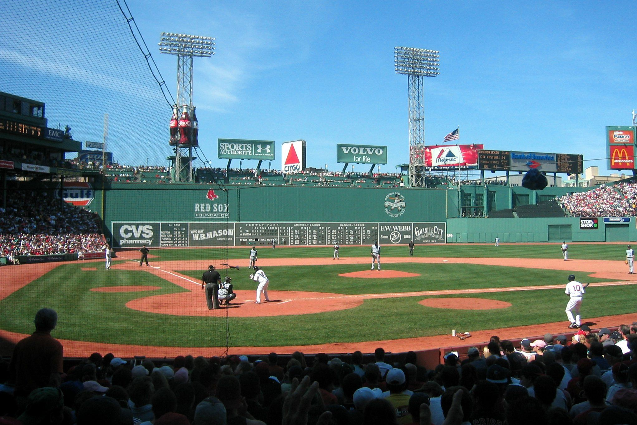 Fenway Park With The Green Monster And Citgo Sign In Shot