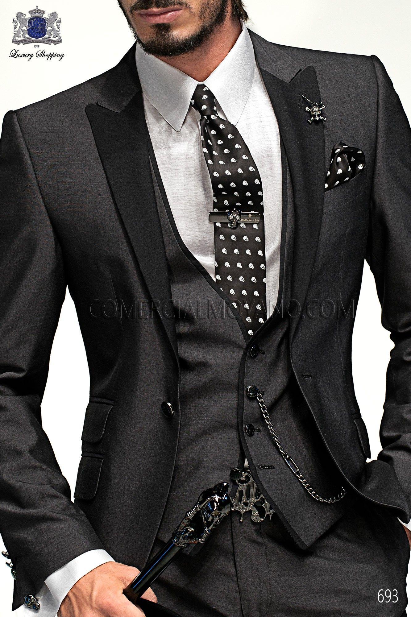 Emotion charcoal gray men wedding suit 693 Ottavio Nuccio Gala ...