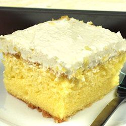 Lemon Cooler Cream Cake    My daughter and I made this over the weekend.  It was soooo good.  Her dad and grandpa really liked it.  If it made the men happy you know it is good.  My daughter wants to try it with other flavors of jello.