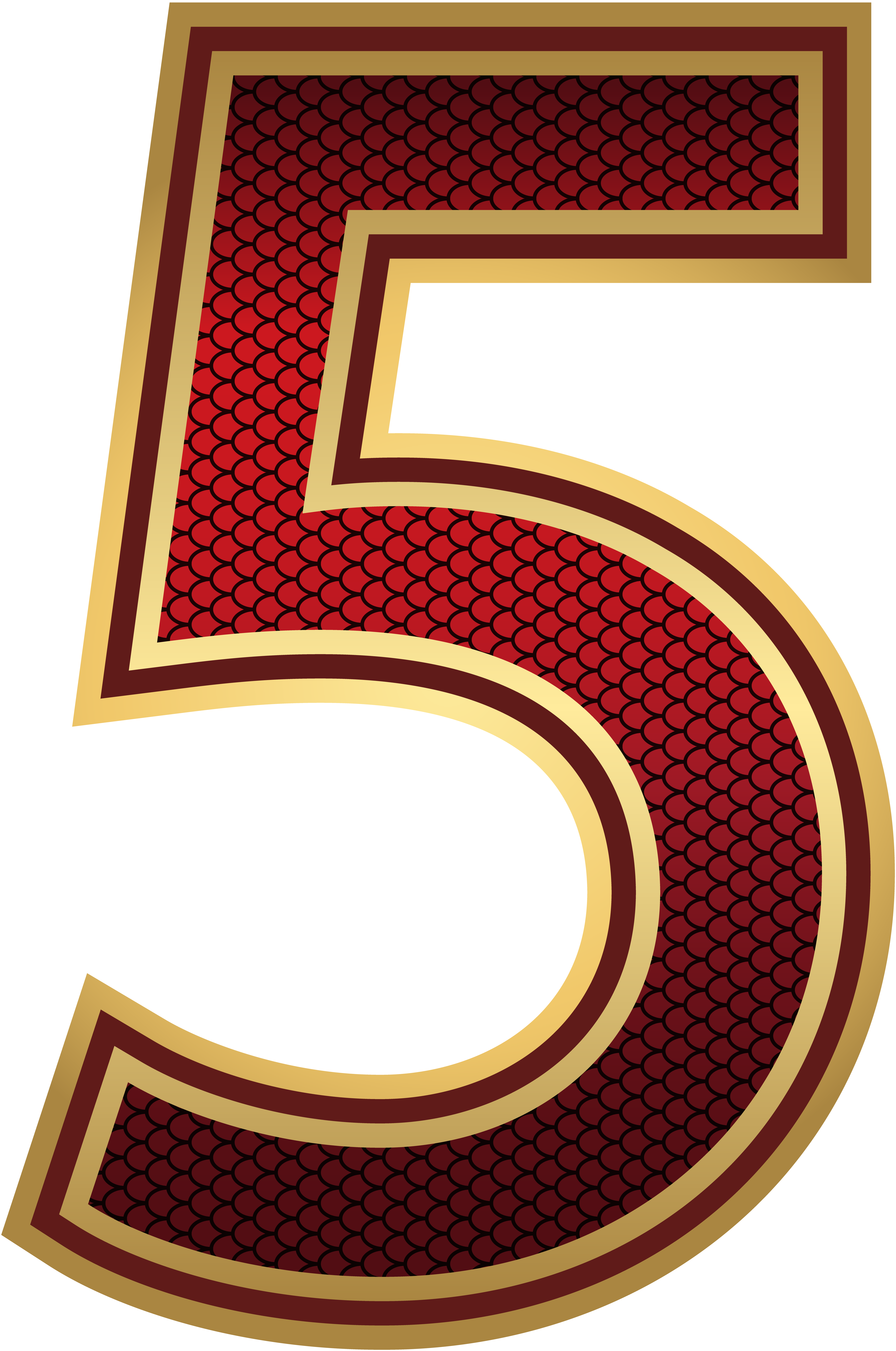 Red And Gold Number Five Png Image Gallery Yopriceville High Quality Images And Transparent Png Free Clipart Free Clip Art Numbers Numbers Font
