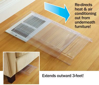Plastic Air Redirecting Vent Extenders Vent Extender Floor Vents Wall Vents
