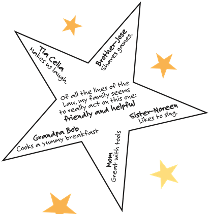 Session One: Take Home Activity: Making a Family Star (pdf