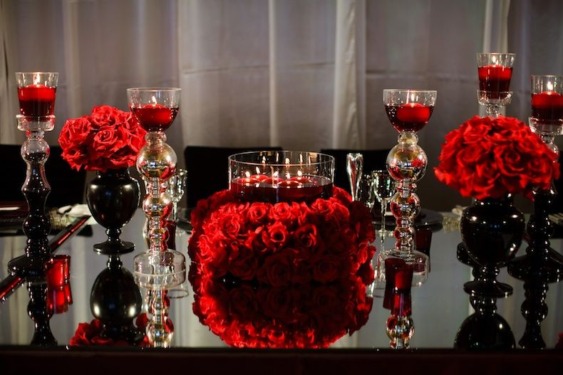 Couture Black And Red Weddings