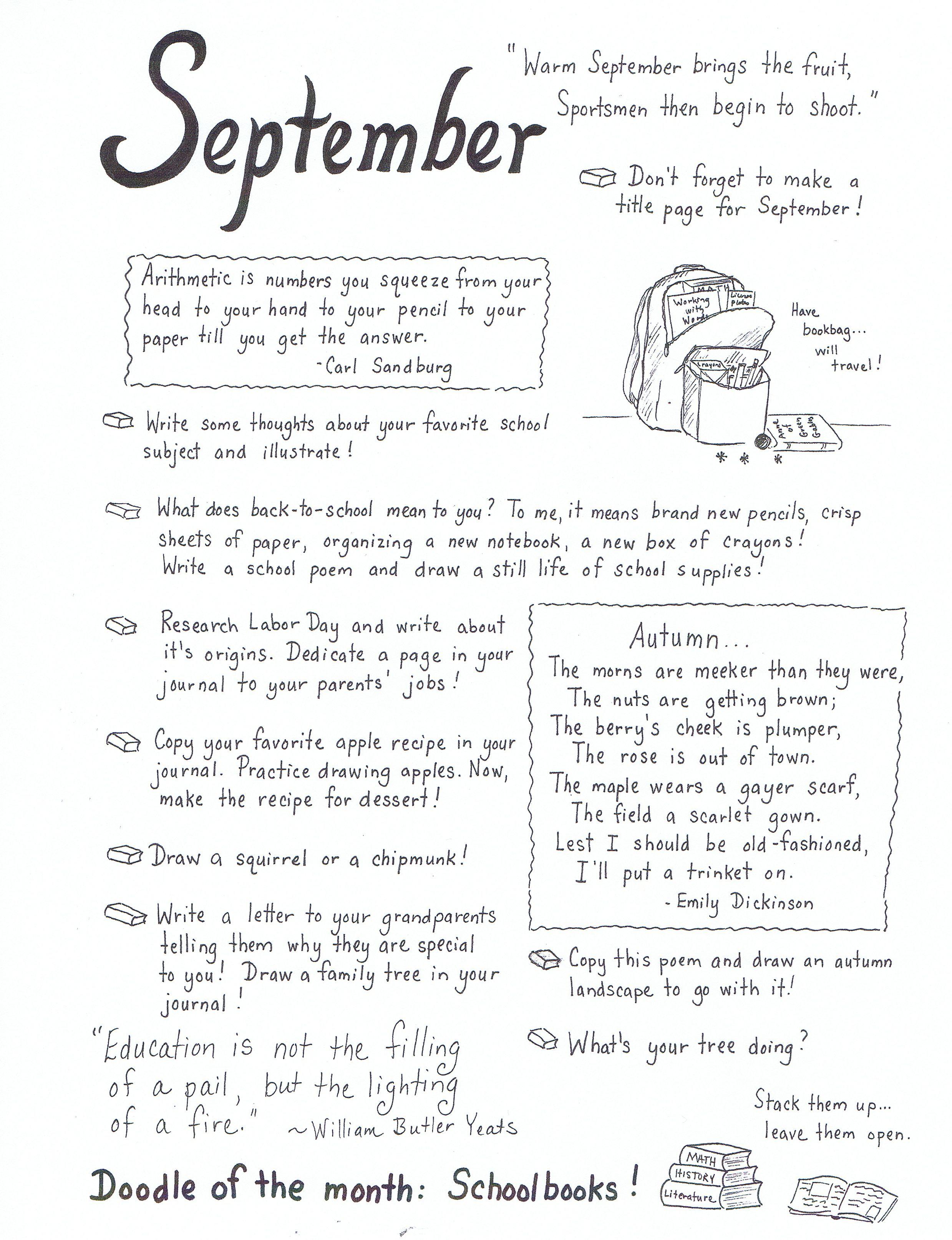 Journal Prompts September