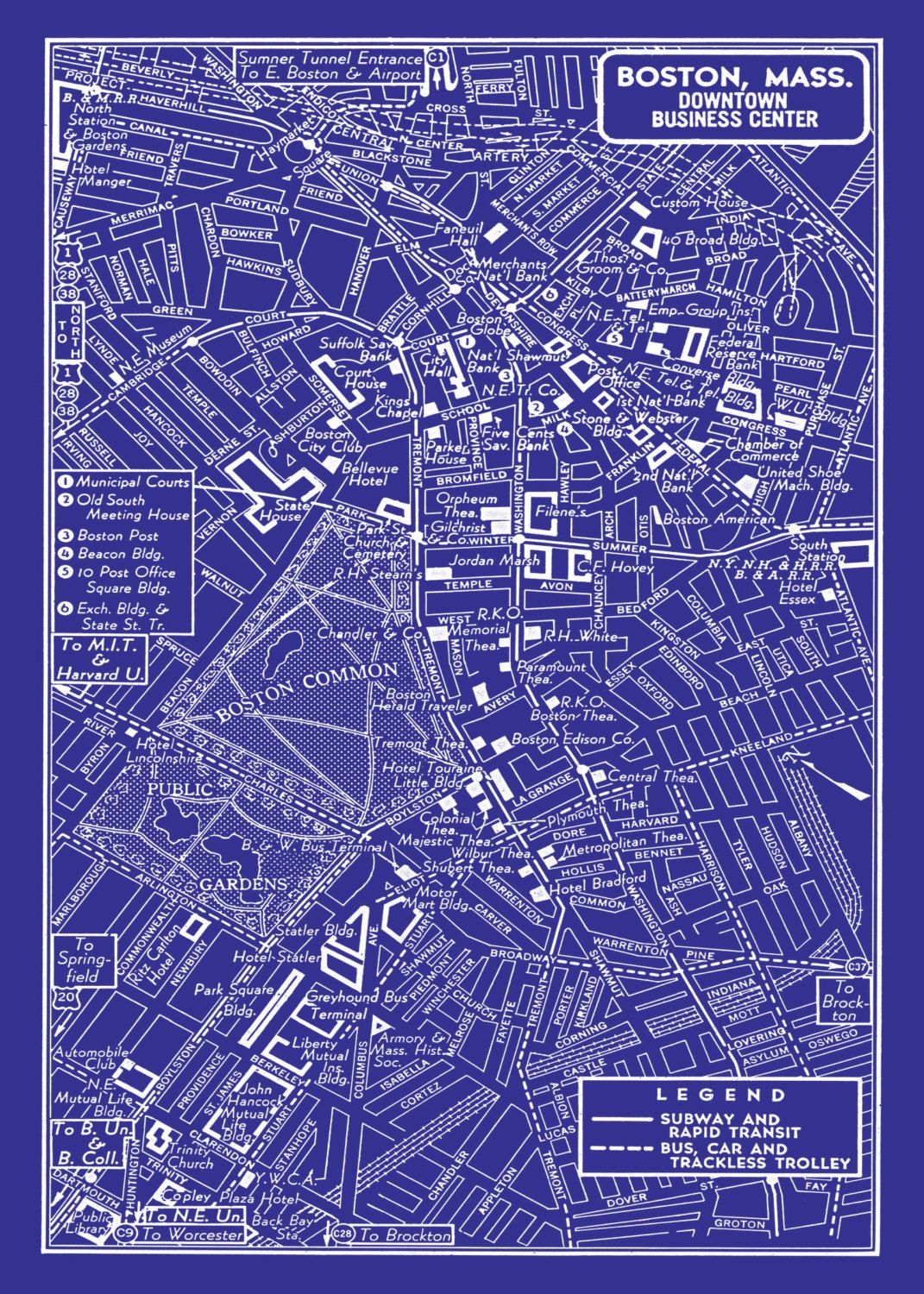 Image result for map of boston in blue
