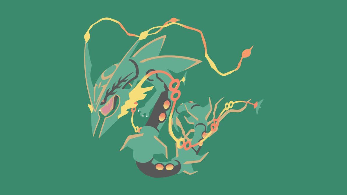 Minimalistic Wallpaper Mega Rayquaza 384 1 By Mardgeert Rayquaza Wallpaper Hd Pokemon Wallpapers Mega Rayquaza