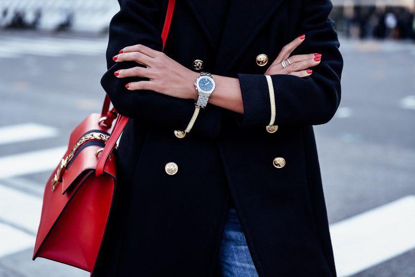 27e765c0d7a Michele Belmore watch + Gucci Sylvie bag in red