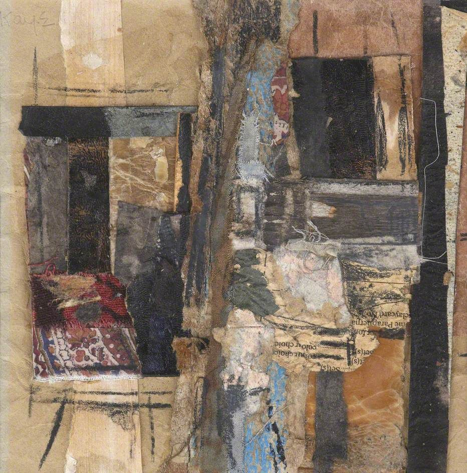 Abstract Fabric Collage Margaret Kaye Art