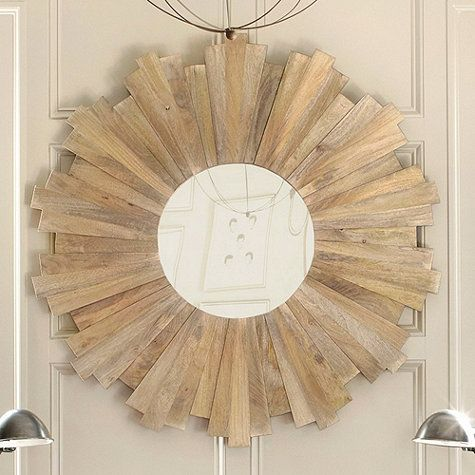 Thrifty Decor Chick's Sunburst Mirror Tutorial using cedar shims.