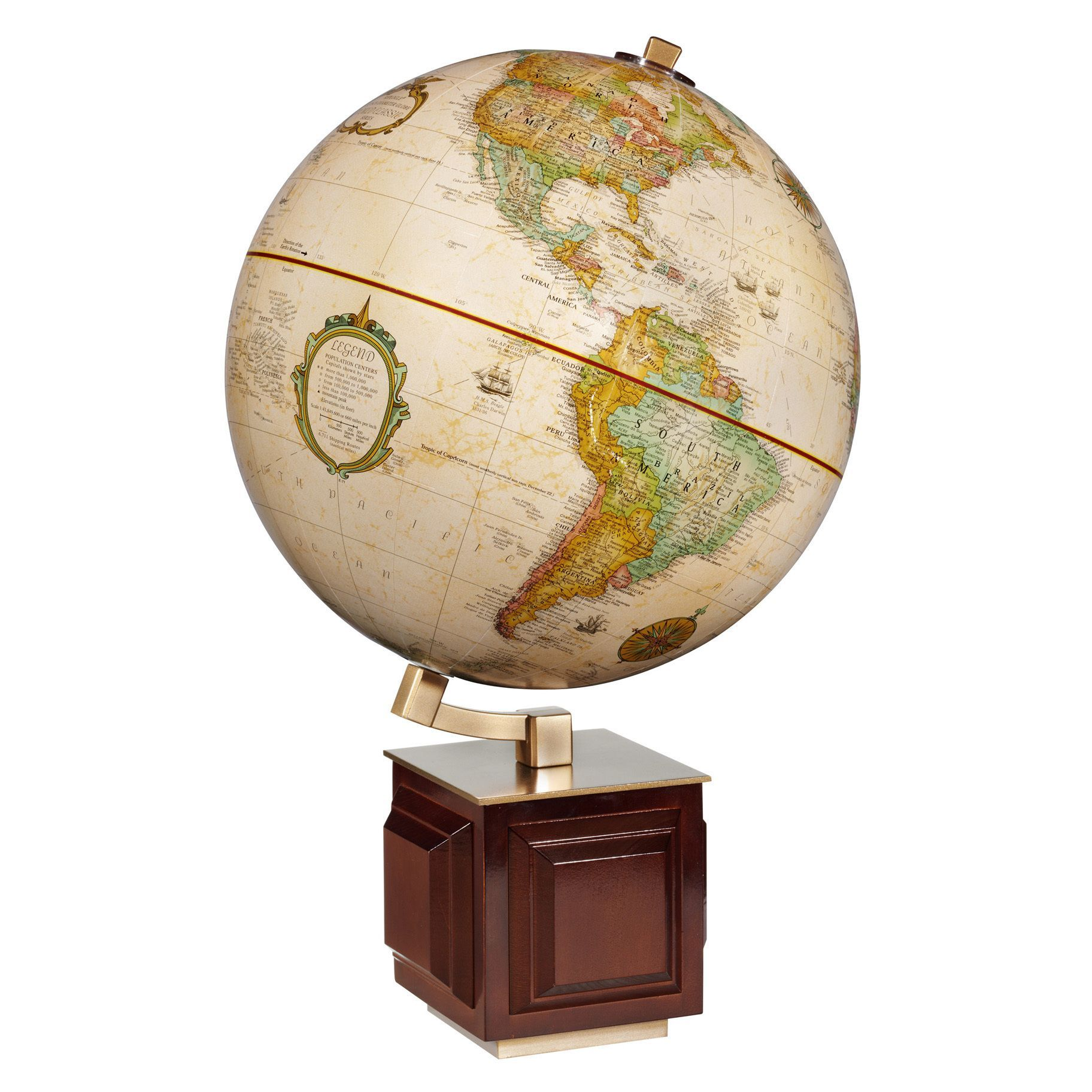 Four square wooden desktop world map ball brown products four square wooden desktop world map ball brown gumiabroncs Image collections