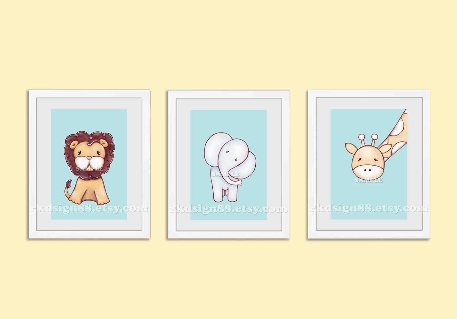 Nursery art prints, baby boy nursery decor, nursery print, safari ...