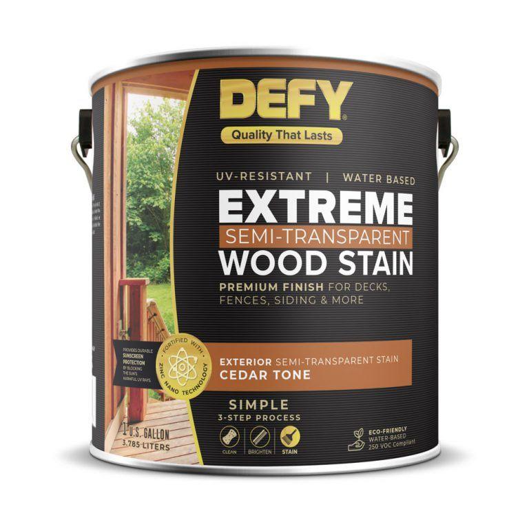 Defy Extreme Wood Stain 1gallon Cedartone In 2020 Staining Wood Staining Deck Exterior Wood Stain
