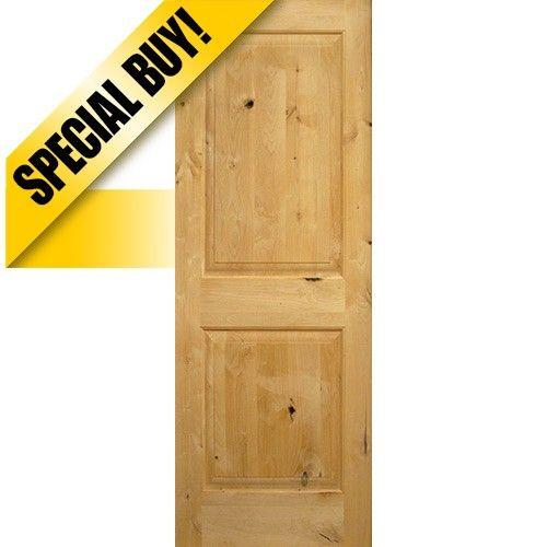 Interior  panel square top knotty alder wood door slab also rh pinterest