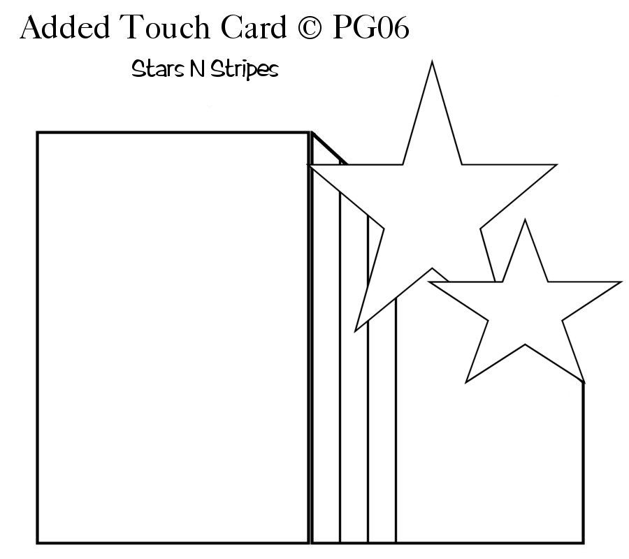 Stars card template Paper Craft Themed Card Templates - star template