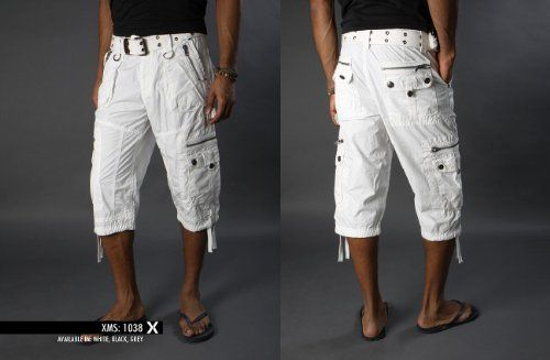 X-Ray Men's Cargo Capri Shorts- Color White | My Wish List ...