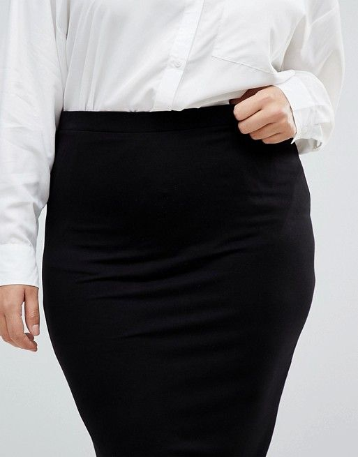 5370c904b3b8 DESIGN Curve jersey pencil skirt in 2019 | My Style | Skirts, Asos ...