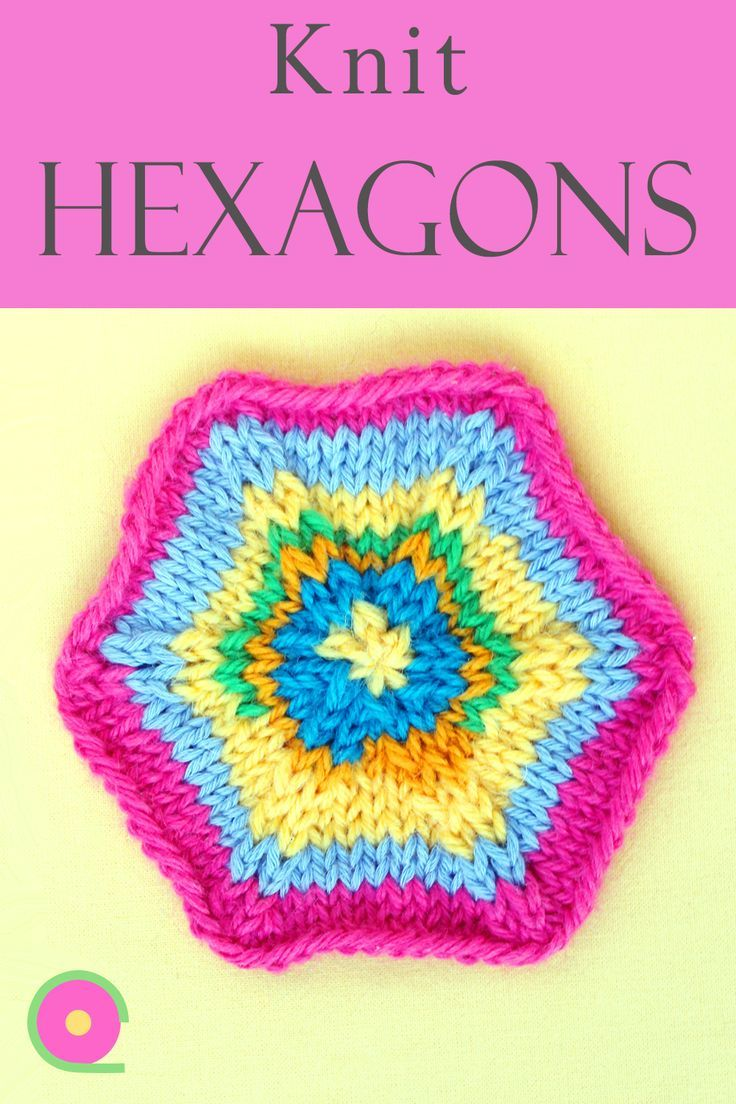 How to knit a hexagon - Knitting tutorial