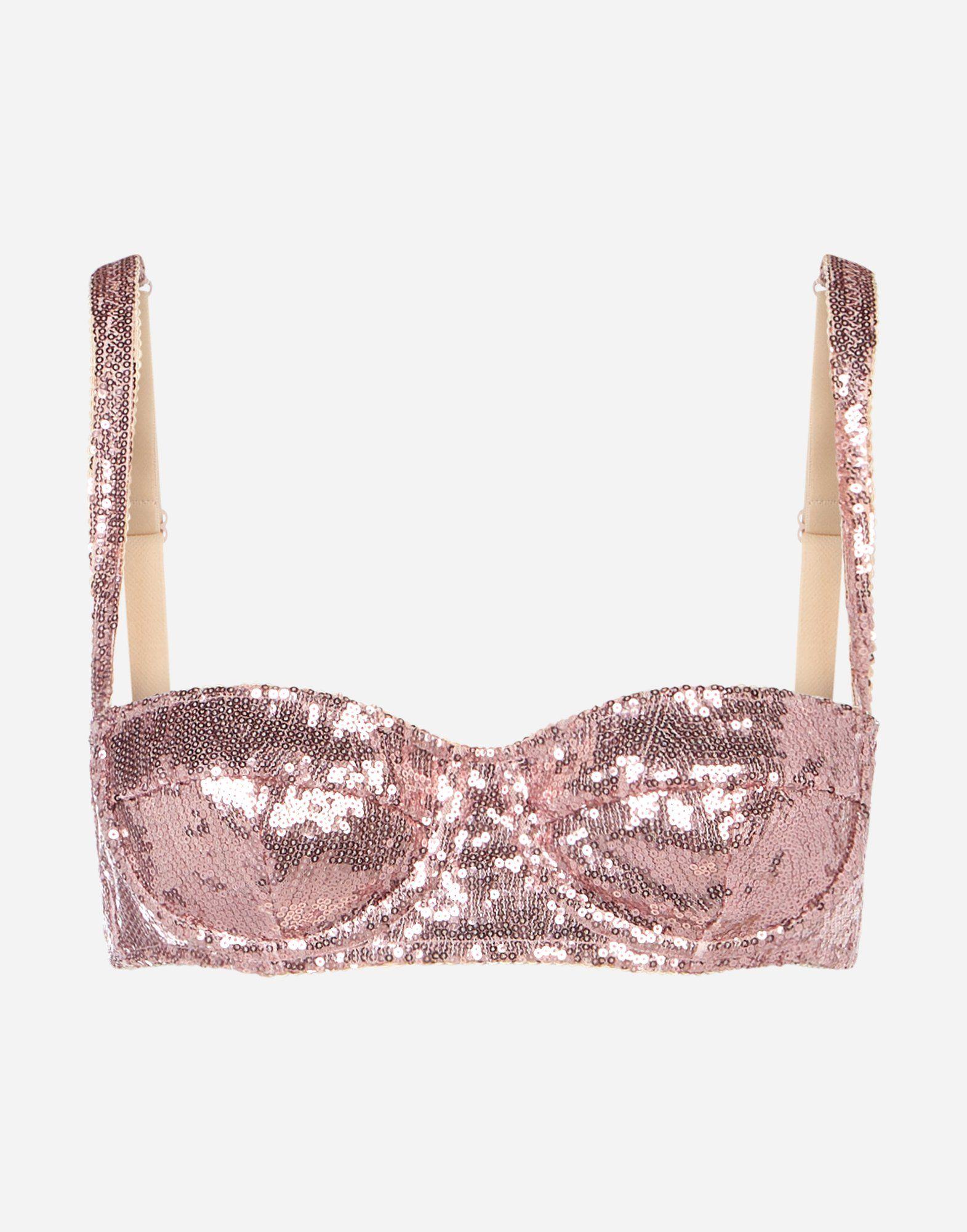 Women's Underwear | Dolce&Gabbana - SEQUINED SEMI-