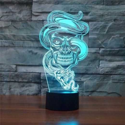 Yimi 3d Illusion Ghost Color Lamp Acrylic Led Night Light Micro Usb Led Desk Lamps Besprod 3d Night Light Night Light Lamp Led Lighting Home