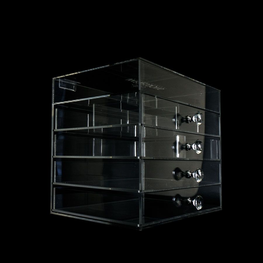 Diamond Collection 5 Tier Acrylic Makeup Organizer With Flip Top