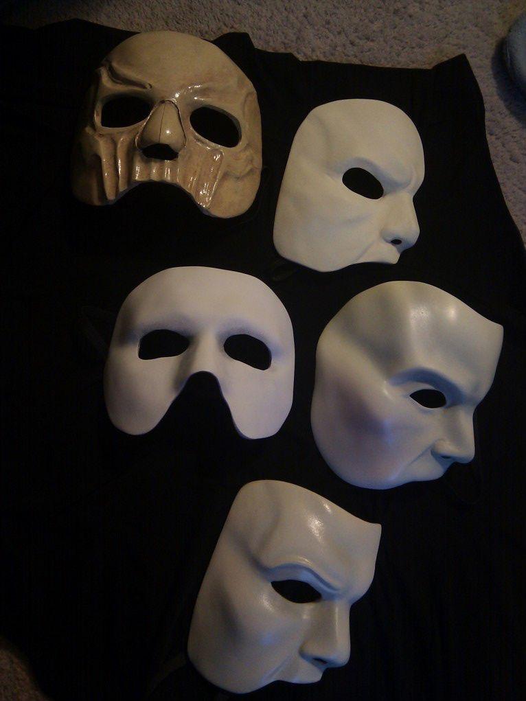Phantom Masks The Phantom Of The Opera Pinterest
