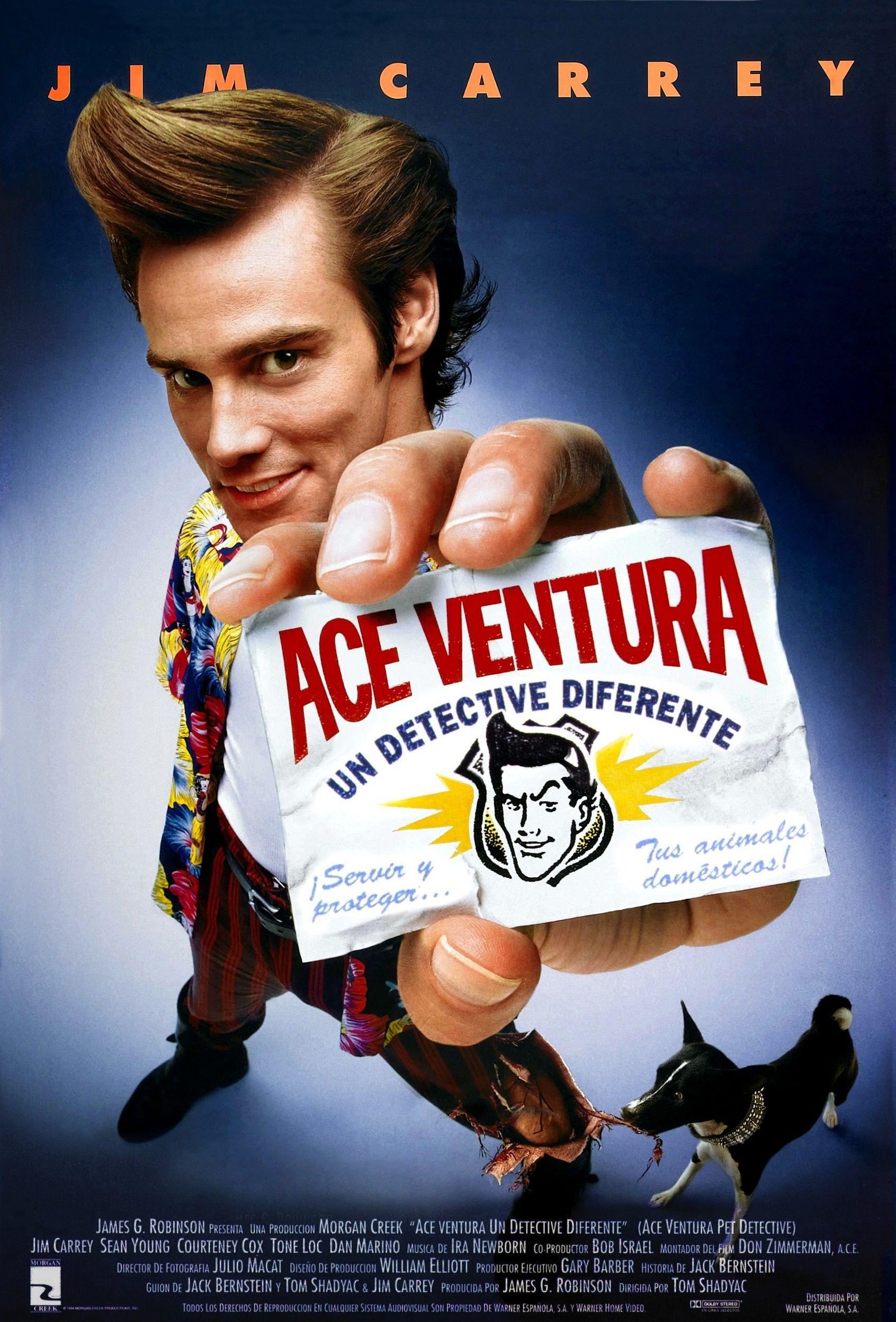 Ace Ventura Un Detective Diferente Películas Cómicas Peliculas De Comedia Peliculas