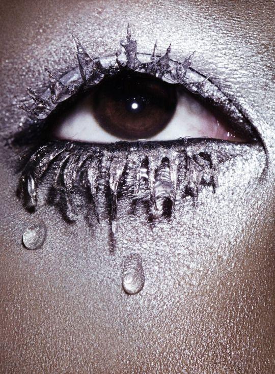 """Glisten"" Betty Adewole by Paul Scala for ES Magazine November 2015. Stylist: Sophie Paxton Makeup: Isamaya Ffrench #betty adewole#paul scala#es magazine#evening standard magazine#makeup#lips#eyes#beauty#editorial"