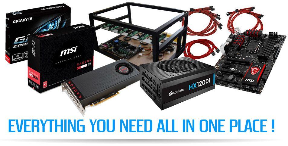 Custom Ready Built GPU Mining Rig Frames