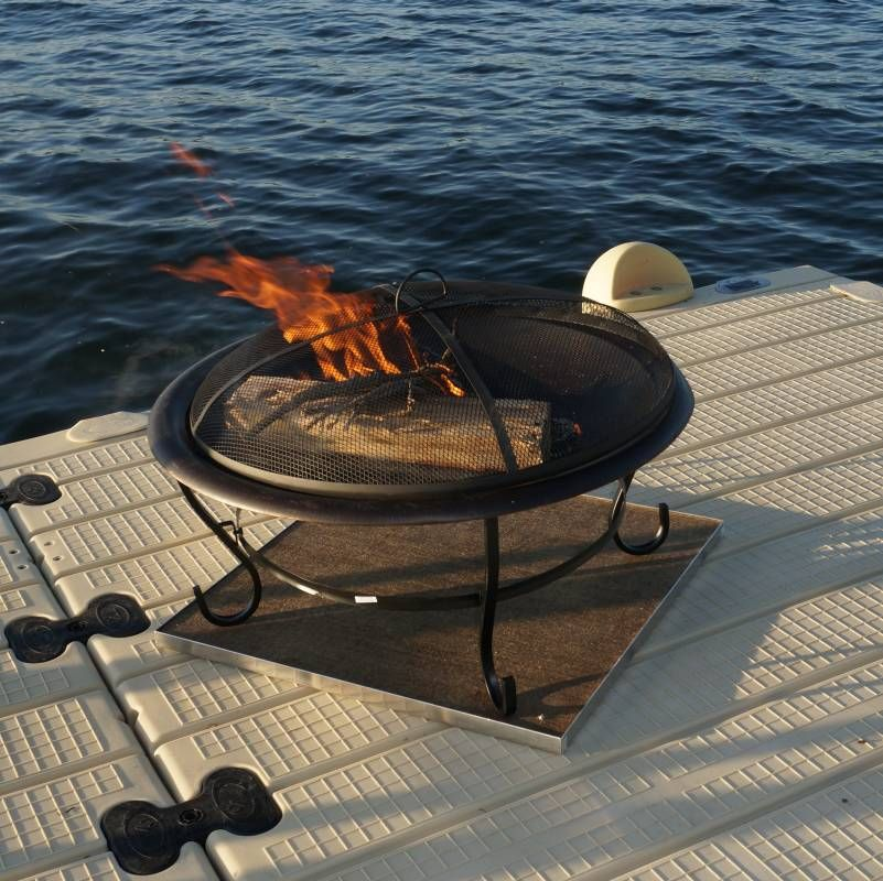 Fire Pit Pads Protect Your Deck With Fireproof Deck Protect Mats Deck Fire Pit Fire Pit Fire Pit Decor