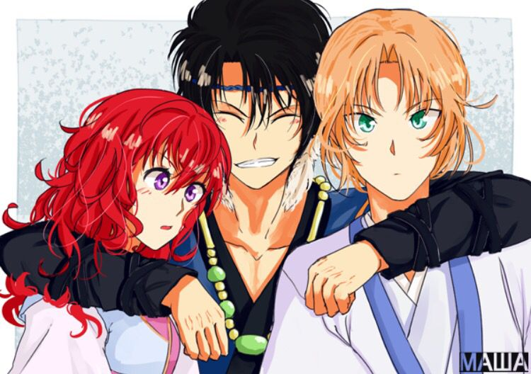 Akatsuki no Yona / Yona of the Dawn anime and manga    Hak, Yona, and Soowon Suwon